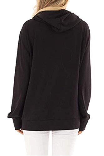 Roevite Women's Mama Bear Printed Top Long Sleeve Pullover Hoodie Sweatshirt