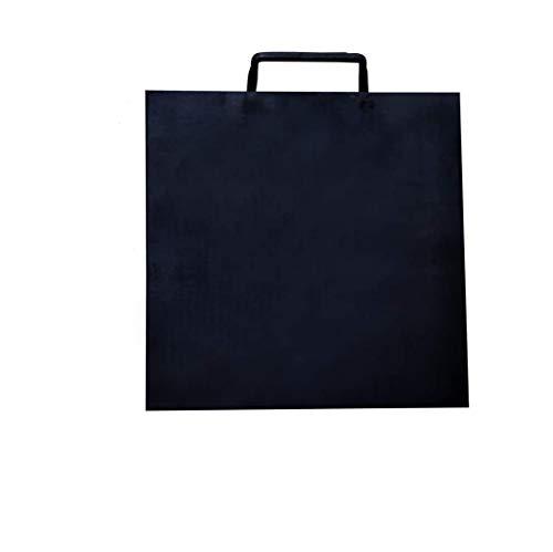 nakshathra Iron Square Tawa, 12 inch (Black)