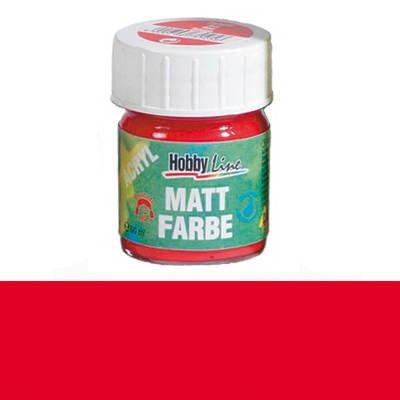Hobby Line Acryl-Mattfarbe, 50ml, Rot