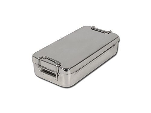 Caja de acero inoxidable con mango 20cm x 10cm x 4,5cm, de Gima S.p.A referencia 26669