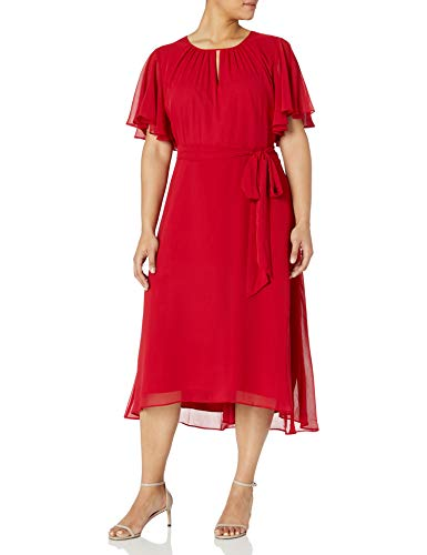Tahari ASL Women's Plus Fit and Flare, Ruby, 20W