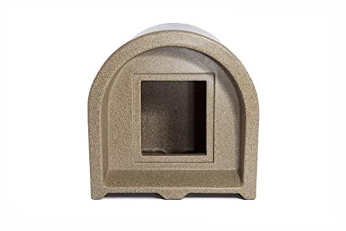 desco engineering Mr Snugs KatDen Outdoor Cat Kennel - Sandstone Colour