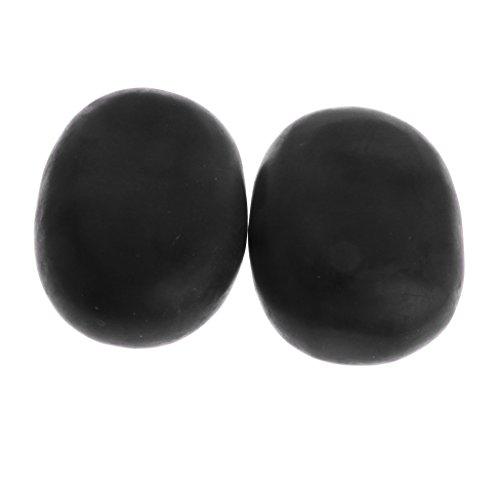 chiwanji Pack De 2 Grandes Pierres Chaudes De Massage - Chauffe Corps Et Pierres D'énergie En Basalt Stones Pour Body Spa Relax - 11x7cm