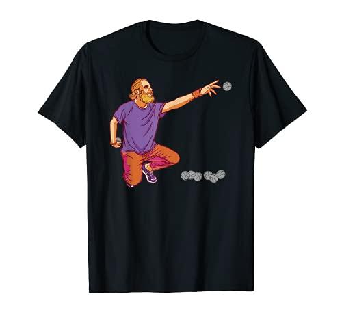 Jugador de petanca lanza la pelota de petanca Camiseta