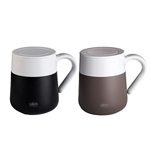 Coffee Mug Thermos Cup Light Weight Water Cup Resin Mug for Outdoor Office Home 300ml/10oz (Color : B1+B2)