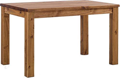 Esstisch Rio Classico 120x80 cm Brasil Massivholz Pinie Holz Esszimmertisch Echtholz Größe und Farbe wählbar ausziehbar vorgerichtet für Ansteckplatten Brasilmöbel