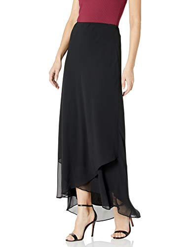 Alex Evenings Women's Long Dress Skirt (Regular and Plus Sizes), Black, L