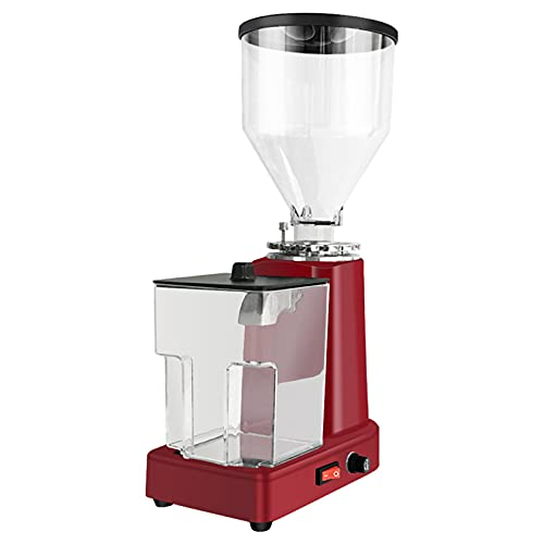 Electric Coffee Grinder – 200W Automatic Burr Grinder Grinding Size Set Stainless Steel Cutting Grinder with 19 Adjustable Grind Settings Household Beans, Nuts, Spices Grinder (Red)