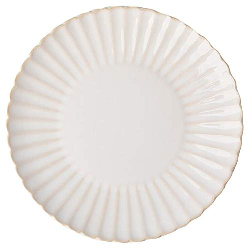 Retro White petal Dinner Plate Ceramic Kitchen Plate Tableware Set Food Dishes Rice Salad Noodles Bowl Soup Kitchen Cook Tool