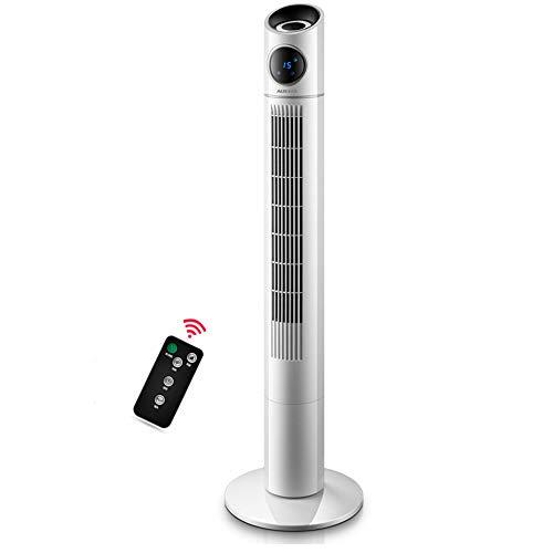 CHEN Turmventilator, Leise, Blattlos, Fernbedienung, Timing, Einstellbare Windgeschwindigkeit, Energiesparventilator, Nach Hause
