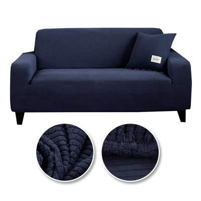 JBHURF Funda de sofá para sala de estar cubierta de sofá elástico fundas seccional elástico elástico en forma de L Funda de sillón Deep Sofa 4size 2 asientos sofá 6