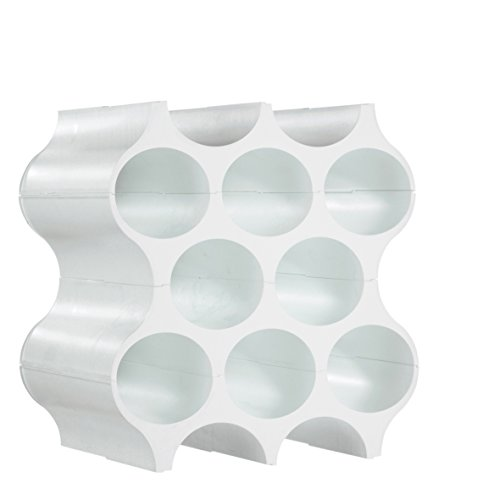 Koziol SET-UP - Botellero de plástico, Blanco (Solid White), 23 x 35.3 x 36.4 cm