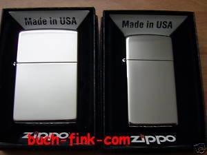 Zippo briquet duo regular slim (chrome brossé)