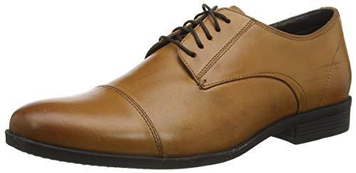 Hush Puppies Ollie, Zapatos de Cordones Derby Hombre, Marrón (Dark Brown Brown), 41.5 EU