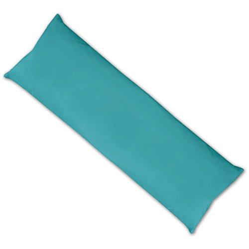 Bestlivings Schwangerschaftskissen Seitenschläferkissen Kissenbezug Füllkissen, erholend anschmiegsam in vielen erhältlich (ca. 40x120 cm/türkis - Pfauenblau)
