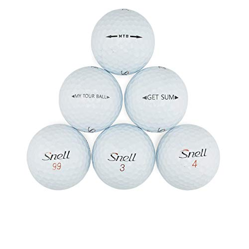 Professional Golf Snell Golf Ball Mix - 100 Used Snell Golf Balls (AAA Snell Golfballs), White (100PK-Snell-3)