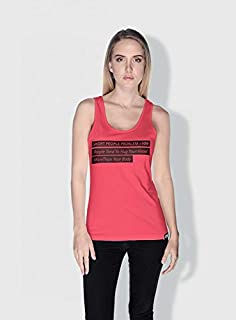 Creo Short People Problem Funny Tanks Tops For Women - M