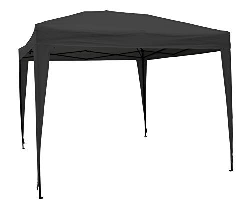 AIRWAVE 3x3m Waterproof Black Pop Up Gazebo - Frame & Canopy Marquee Tent (No Sides)