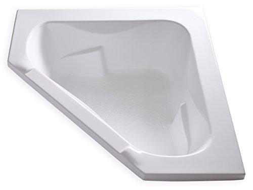 Carver Tubs - CT6060-60'L x 60'W x 19.5'H - White Corner Drop In Soaking Bathtub