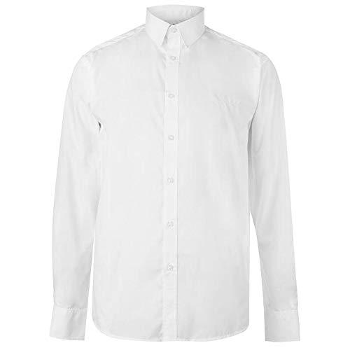 Pierre Cardin Chemise rayée unie pour homme (Taille L, blanc uni)