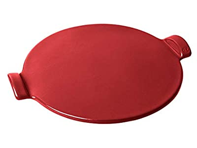 """Emile Henry 347514 Flame Top 14.5"""" Pizza Stone, Burgundy Red"""