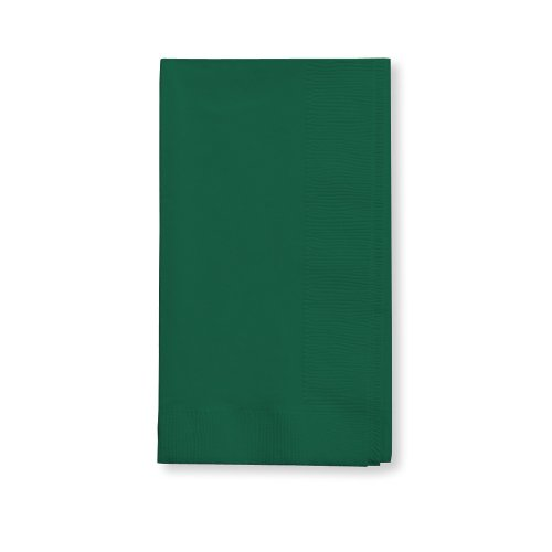 Creative Converting Touch of Color 100 Count 2-Ply Paper Dinner Napkins, Hunter Green , 16' x 16' - 273124