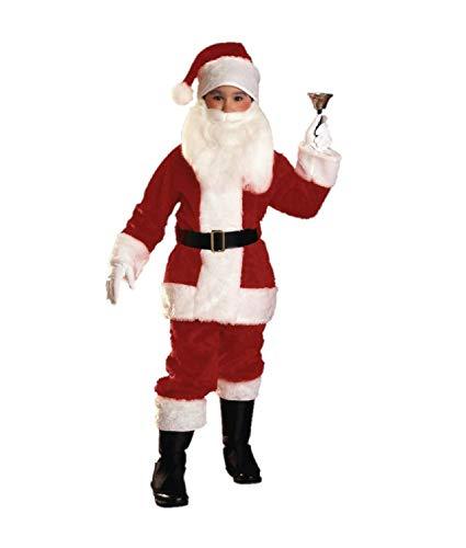 Rubies Plush Child Santa Suit Costume, Medium