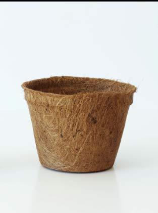 Pokugiardini, Vasi Biodegradabili in Fibra di Cocco Ø 18 cm, 20 Pezzi