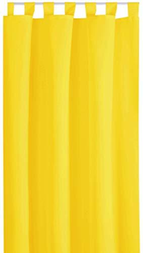 Bestlivings Blickdichte Gardine mit Schlaufen (140x175 cm/Gelb), in vielen Variationen
