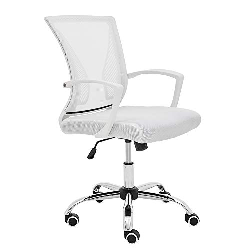 Modern Home ZUNA-WHWHITE Office Chair, White/White