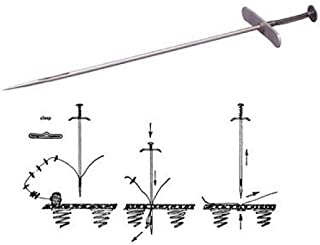 C.S.Osborne . No. 417 - Tufting Needle ( MPN# 64386) & No. 418 - Tufting Clasps, 100 pack ( MPN# 14388)