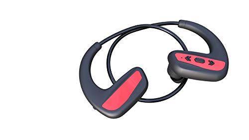 Schwimmkopfhörer Bluetooth 8 Wasserdicht Schwimmen Laufen Sport Mp3-speicher 16g Musik-Player Integriert Rot + 16G