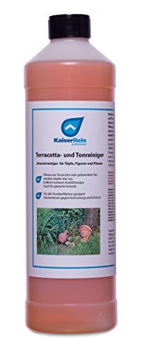 KaiserRein Profi Terracottareiniger 1l Tonreiniger Reiniger für Figuren aus Ton, Terassenplatten, Blumentöpfe, Blumenkübel, Blumenkasten