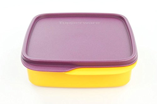 TUPPERWARE To Go Lunchbox 550 ml hellorange/lila mit Trennwand Clevere Pause