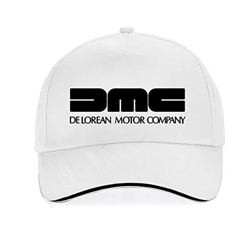 AJSJ Delorean Motor Company Casquette De Baseball Retour vers Le Futur Film Casquettes Mode Unisexe Réglable 100% Coton Papa Chapeau, Blanc