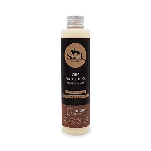 Sofolk ab 1989 Schutzwachs, farblos, Leder: schützt und pflegt die Lederblume vor Reibung (Flasche 200 ml)