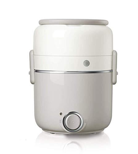 Elektrische Brotdose,Elektrische Dampfgarer 2 Liter Tragbare Lunchbox Lebensmittel Heizung Mit Herausnehmbarem Edelstahleinsatz, Für Den Einsatz in Büroangestellten Und in Der Schule