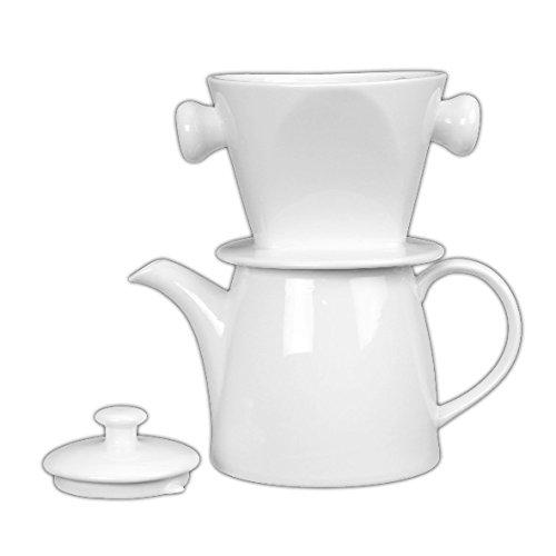 Holst Porzellan at 120 FA1 Kaffeekanne 1,2 l mit Filter und Deckel, Porzellan, Weiß, 23.5 x 13.5 x 23 cm