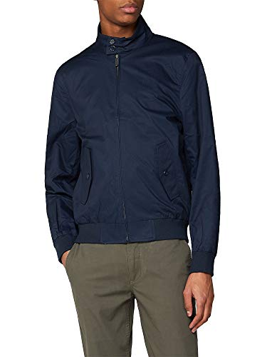 Ben Sherman Herren Harrington-Jacke, klassischer Harrington-Mantel mit Reißverschluss, Marineblau Gr. XXX-Large, navy