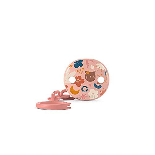 Suavinex Clip para chupete de bebé + 0 meses, cadena para chupete de niño, rosa, 29 g