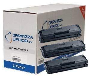 Organizza Ufficio 3 Toner O-MLT-D111S/L, Compatibile con Samsung Xpress M2070, M2070F, M2070FW, M2070W. Durata 1.800 Pagine al 5% di Copertura.