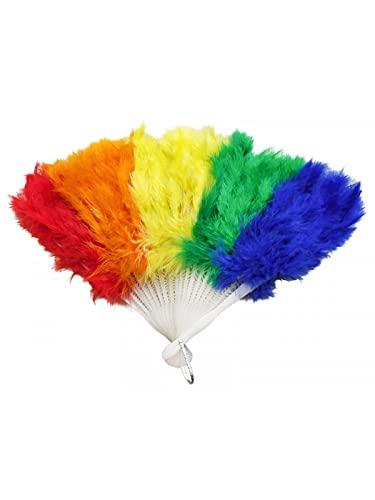 DISBACANAL Abanico Multicolor de Plumas