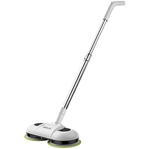 ZQY elektrische mop vloerwivel scrubber-verstelbare handgreep draadloze elektrische spray mop en 4 verwisselbare microvezel mop pads voor het reinigen van houten vloeren en tegels