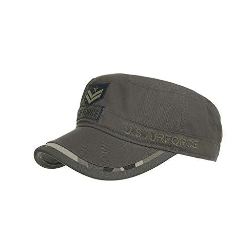 RISTHY Gorra Militar Unisex Plano Gorra de Béisbol Camuflaje Clásico Sombrero de Sol Visera Verano Al Aire Libre Sombrero Vintage Retro para Mujer Hombre