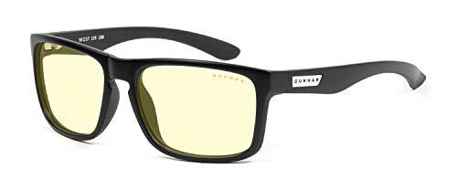 GUNNAR - Gafas para juegos y ordenador | Interceptación, marco de ónice, tinte ámbar, lentes de bloqueo de luz azul, 65 % protección de luz azul, 100 % luz UV, reduce la fatiga ocular y la sequedad