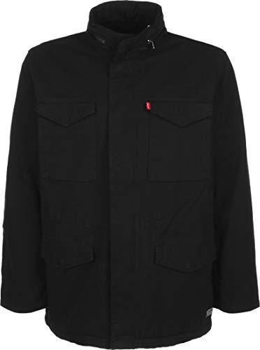 Levi's Sherpa Field Coat Chaqueta, Black (Black 05157 0001), Small para Hombre