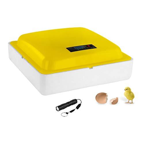 incubato Brutapparat Inkubator Brutmaschine IN-88DDI (80 W, für 88 Eier, Temperaturbereich 20-50 °C, Temperatur- und Luftfeuchtigkeit-Alarm)