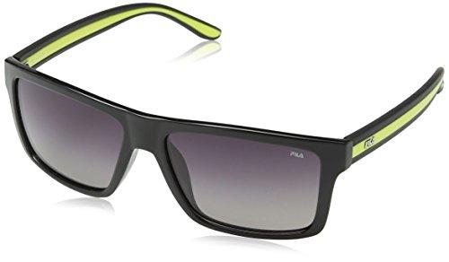 Fila SF898256Z42G Gafas, TOTAL SHINY BLACK, 56/16/145 Unisex Adulto
