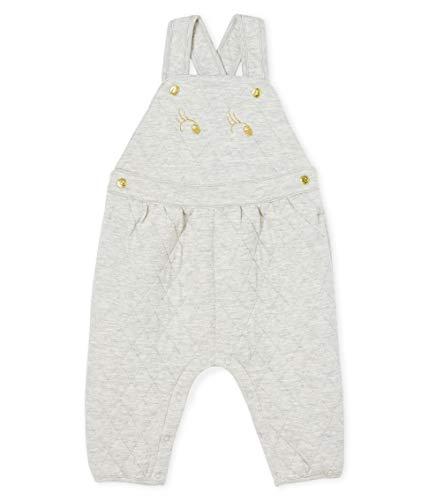 Petit Bateau Salopette Longue_5221001 Pantalones de Peto, Gris (Beluga Chine 01), 86 (Talla del Fabricante: 18M/81centimeters) para Bebés