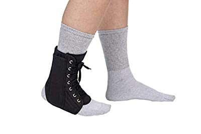 FitPro Lace Up Ankle Support Brace with Removable Inserts, Large, Amazon Exclusive Brand
